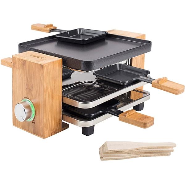 Gratar electric PRINCESS Raclette 116290001001, 700W, negru-maro