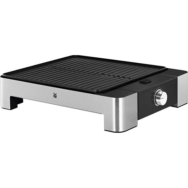 Gratar electric WMF Lono Quadro 415190011, 1250W, argintiu-negru