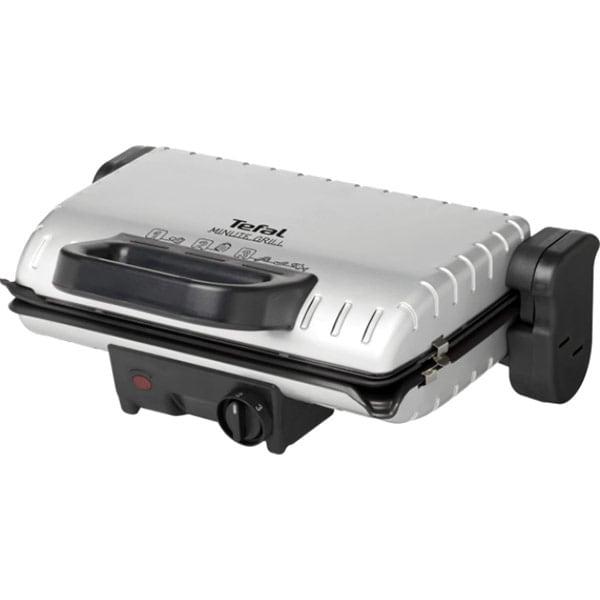 Gratar electric TEFAL Minute Grill GC205012, 1600W, argintiu-negru