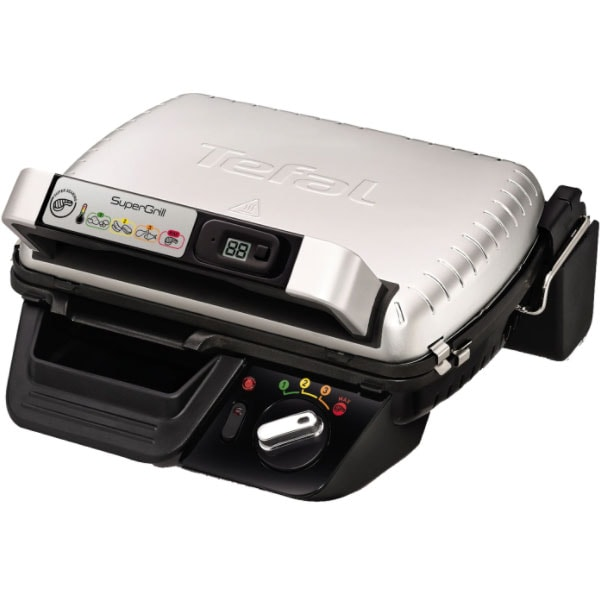 Gratar electric TEFAL Super grill GC451B12, 2000W, argintiu-negru