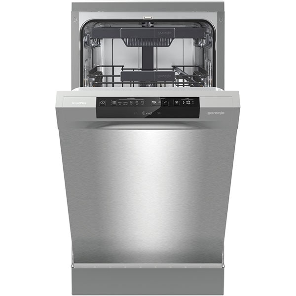 Masina de spalat vase independenta GORENJE GS541D10X, 9 seturi, 5 programe, 45 cm, Clasa D, argintiu