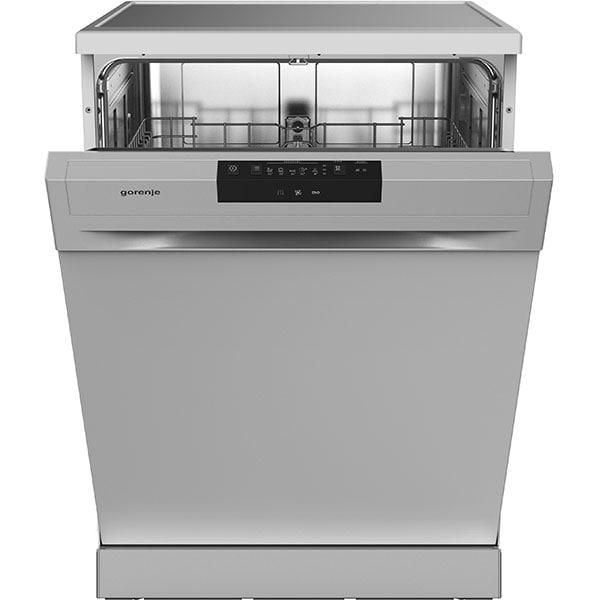 Masina de spalat vase independenta GORENJE GS62040S, 12 seturi, 5 programe, 60 cm, Clasa E, argintiu