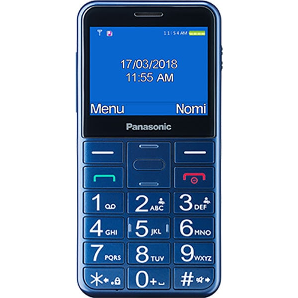 Telefon mobil PANASONIC KX-TU150EXR, buton SOS, 2G, Single SIM, Blue