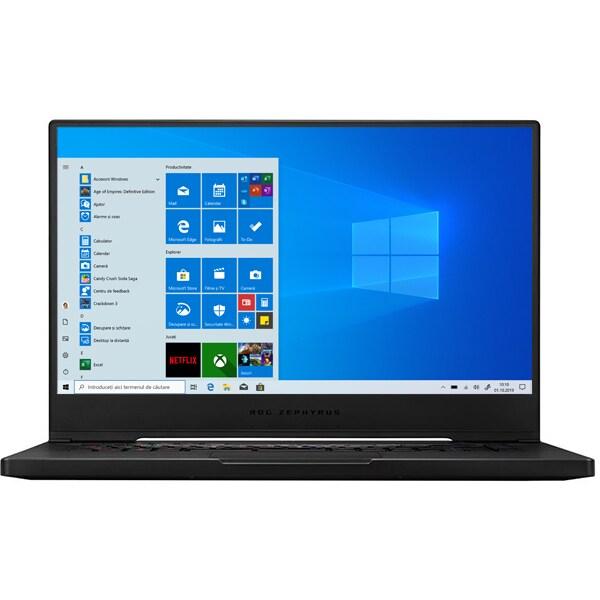 "Laptop Gaming ASUS ROG Zephyrus M15 GU502LW-AZ044T, Intel Core i7-10750H pana la 5.0GHz, 15.6"" Full HD, 16GB, SSD 1TB, NVIDIAGeForceRTX 2070 Max-Q 8GB, Windows 10 Home, negru"