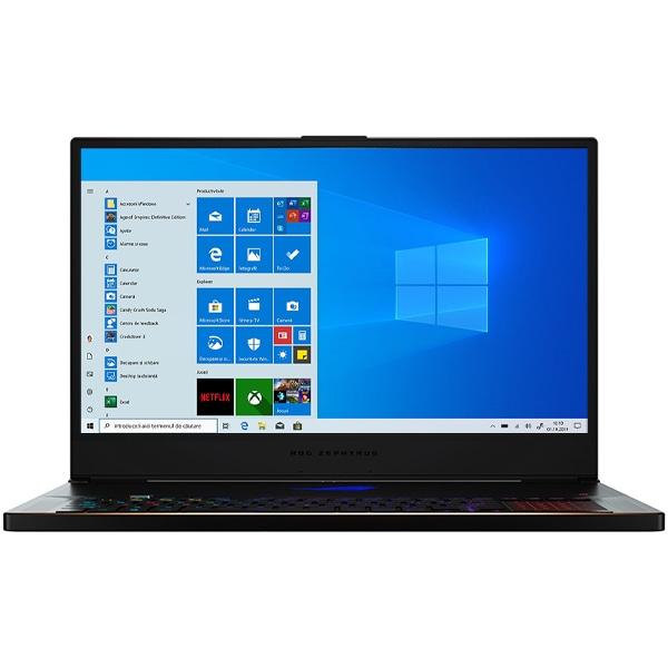 "Laptop Gaming ASUS ROG Zephyrus S GX701LWS-HG019T, Intel Core i7-10750H pana la 5.0GHz, 17.3"" Full HD, 16GB, SSD 1TB, NVIDIA GeForce RTX 2070 8GB, Windows 10 Home, negru"