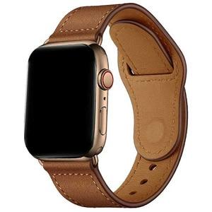 Bratara pentru Apple Watch 42mm/44mm, PROMATE Genio-42, piele naturala, maro