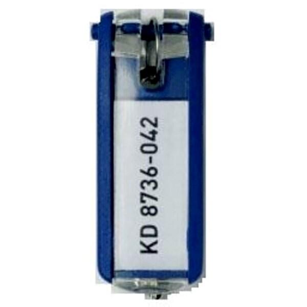 Suport eticheta pentru cheie DURABLE, 6 bucati, albastru