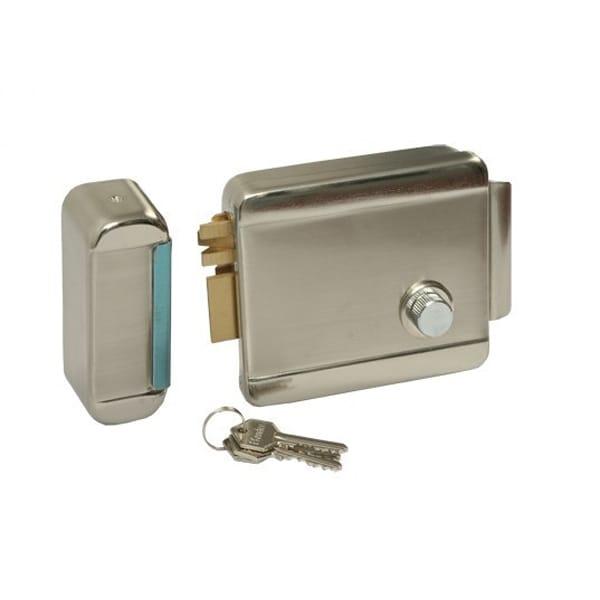 Yala electromagnetica PNI H1073A, cu butuc, deschidere stanga, Fail Secure NO, auriu