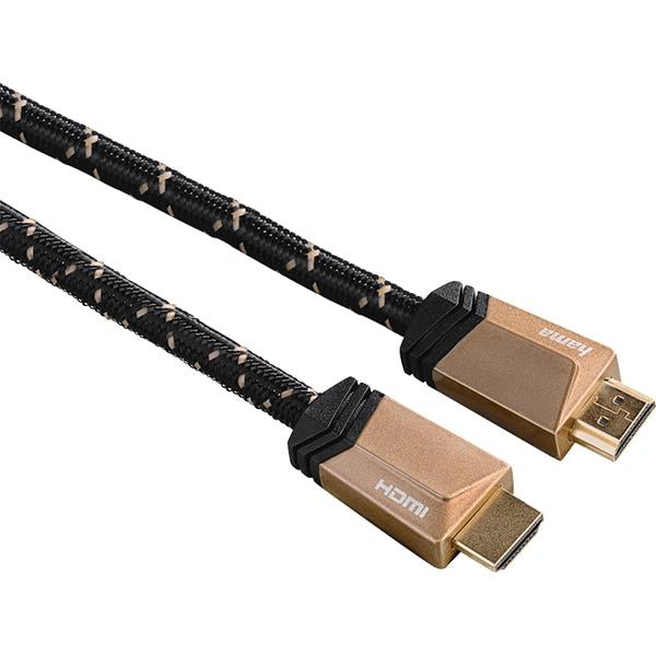 Cablu HDMI Ethernet HAMA 122185, 1m, 8K, negru-maro