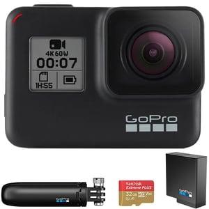 Camera video sport GoPro HERO7, 4K, Wi-Fi, GPS, Black, Bundle