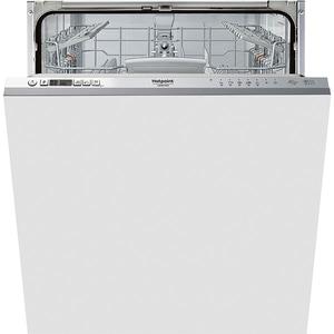 Masina de spalat vase incorporabila HOTPOINT HI 5030 W, 14 seturi, 7 programe, 60 cm, Clasa D, argintiu