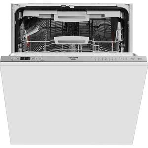 Masina de spalat vase incorporabila HOTPOINT HIC 3O33 WLEG, 14 seturi, 10 programe, 60 cm, Clasa D, inox
