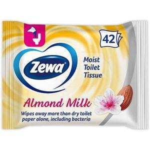 Hartie igienica umeda ZEWA Almond, 42 buc