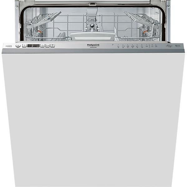 Masina de spalat vase incorporabila HOTPOINT HIO 3T1239 W, 14 seturi, 9 programe, 60 cm, Clasa A++, inox