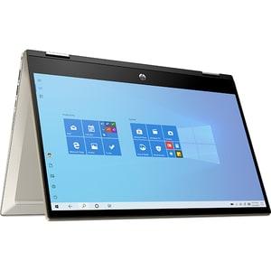 "Laptop 2 in 1 HP Pavilion x360 14-dw1016na, Intel Core i7-1165G7 pana la 4.7Ghz, 14"" Full HD Touch, 16GB, SSD 1TB, Intel Iris Xe, Windows 10 Home, auriu"