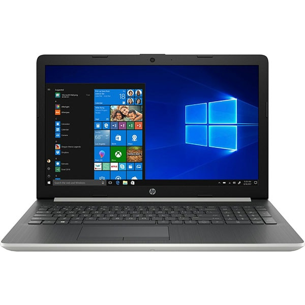"Laptop HP 15-db0066nq, AMD Ryzen 3 2200U pana la 3.4GHz, 15.6"" HD, 8GB, SSD 256GB, AMD Radeon Vega 3, Windows 10 Home, Argintiu"
