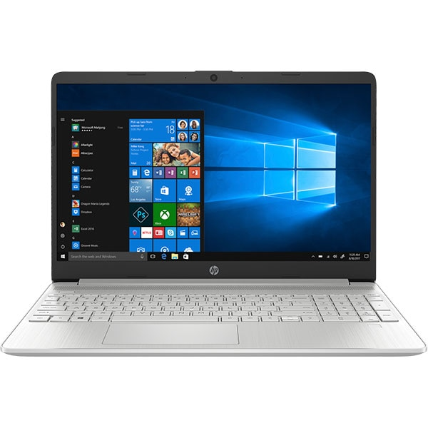 "Laptop HP 15-dy1091wm, Intel Core i3-1005G1 pana la 3.4GHz, 15.6"" HD, 8GB, SSD 256GB, Intel UHD Graphics, Windows 10 Home S, argintiu"