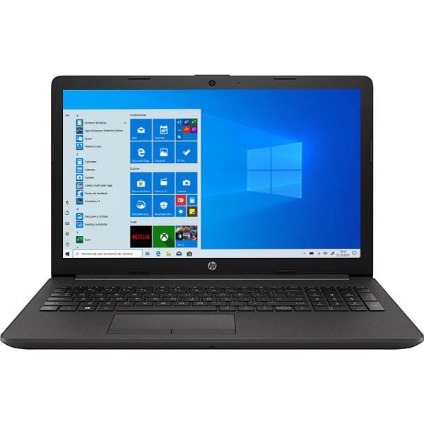 """Laptop HP 250 G7, Intel Core i3-1005G1 pana la 3.4GHz, 15.6"""" Full HD, 8GB, SSD 256GB, Intel UHD Graphics, Windows 10 Pro, negru"""