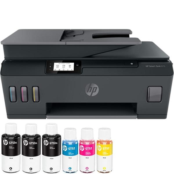 Multifunctional inkjet color HP Smart Tank 615 CISS, A4, USB, Wi-Fi, Fax