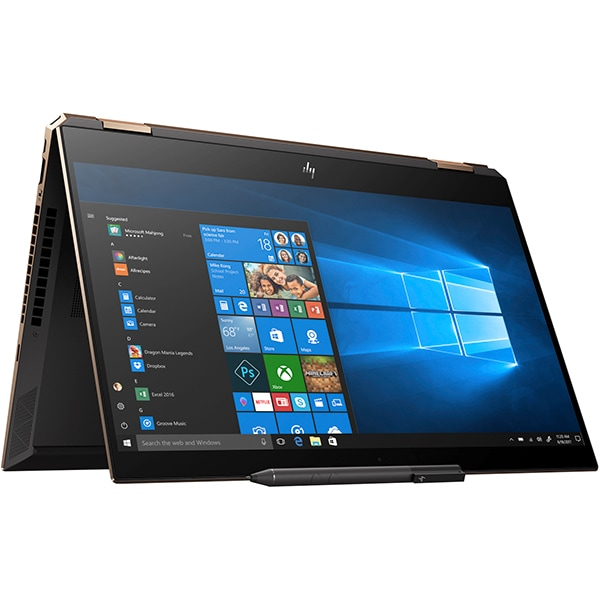"Laptop 2 in 1 HP Spectre x360 15-df0039na, Intel® Core™ i7-8750H pana la 4.1GHz, 15.6"" Ultra HD, 16GB, SSD 256GB, NVIDIA GeForce GTX 1050 Ti 4GB, Windows 10 Home"