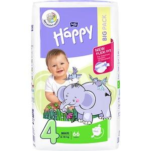 Scutece HAPPY Maxi nr 4, Unisex, 8 - 18 kg, 66 buc