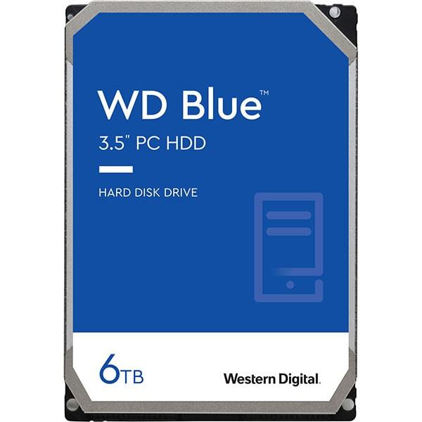 Hard Disk desktop WD Blue, 6TB, 5400 RPM, SATA3, 64MB, WD60EZRZ