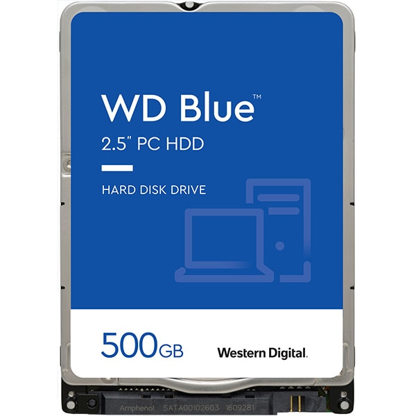 Hard Disk laptop WD Blue, 500GB, 5400 RPM, SATA3, 16MB, WD5000LPCX