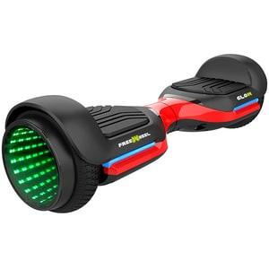 Hoverboard FREEWHEEL Glow, 6.5 inch, viteza 12km/h, motor 2 x 250W, negru-rosu