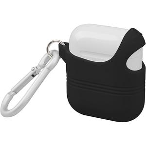 Husa decupata pentru Apple AirPods + inel prindere PROMATE VeilCase, negru