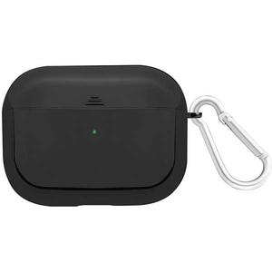 Husa pentru Apple AirPods Pro + inel prindere PROMATE Glowy-Pro, silicon galvanizat, negru