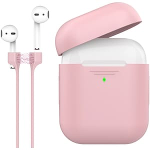 Husa pentru Apple AirPods + cablu magnetic PROMATE PodKit, roz