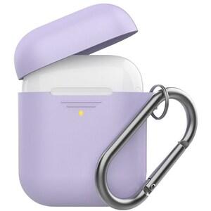 Husa pentru Apple AirPods + inel prindere PROMATE GripCase, violet