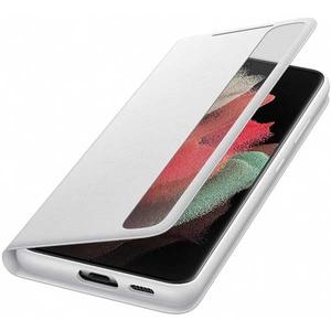 Husa Smart Clear View pentru SAMSUNG Galaxy S21 Ultra, EF-ZG998CJEGEE, silicon, gri