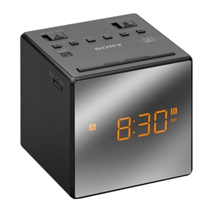 Radio cu ceas SONY ICF-C1TB, FM, negru