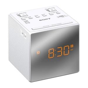 Radio cu ceas SONY ICF-C1TW, FM, alb