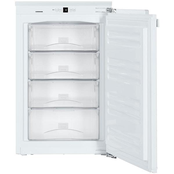 Congelator incorporabil LIEBHERR IGN 1624, No Frost, 86 l, H 88.8 cm, Clasa E, alb