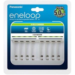 Incarcator PANASONIC Eneloop BQ-CC63, 1-8 AA/AAA, alb