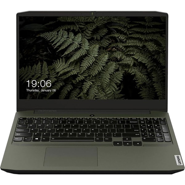 "Laptop Gaming LENOVO IdeaPad Creator 5 15IMH05, Intel Core i5-10300H pana la 4.5GHz, 15.6"" Full HD, 16GB, SSD 512GB, NVIDIA GeForce GTX 1650Ti 4GB, Free DOS, verde inchis"