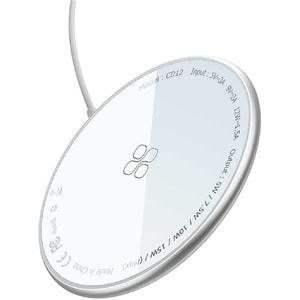 Incarcator wireless PROMATE MagTag-15W, universal, QI, Super-Fast Charging 15W, argintiu
