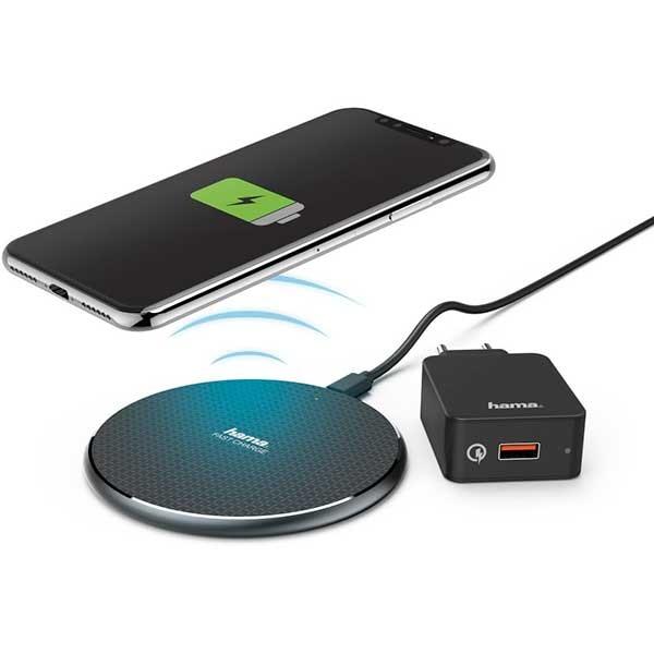 Incarcator wireless HAMA QI-FC10 188322, universal, QI, Quick Charge 3.0, negru