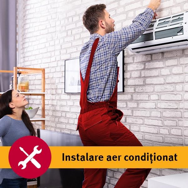 Instalare aer conditionat in 3-5 zile lucratoare - pentru aparatele de 9000-12000BTU fara kit de montaj inclus