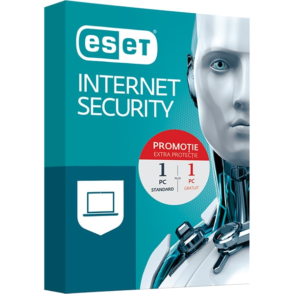 Antivirus ESET NOD32 Internet Security, 1PC + 1 PC Gratuit, Box