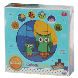 Puzzle cuburi BIDIBIMBI 36011J, 2 ani+, 9 piese
