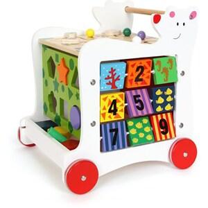 Antepremergator LEGLER Ursuletul cu activitati educative, 12 luni+, lemn, multicolor