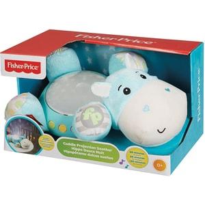 Lampa de veghe FISHER PRICE Hippo cu proiector si muzica MTCGN86, alb-bleu