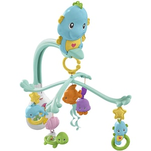Jucarie carusel FISHER PRICE Seahorse Mobile 3in1 MTDFP12, 0 luni+, multicolor