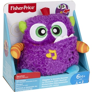 Jucarie interactiva FISHER PRICE Monstrulet muzical MTDYM88, 6 luni+, mov-portocaliu