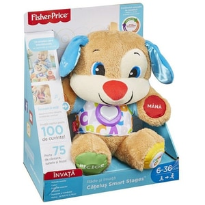 Jucarie interactiva FISHER PRICE Catelusul vorbitor - Smart Stages MTFPN99, 6 luni+, multicolor