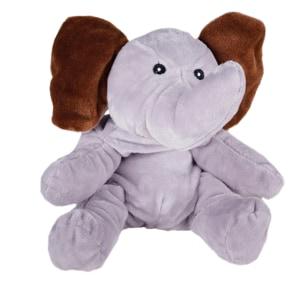 Perna termica cu samburi de cirese Elefantul Jumbo SANG16218, gri-maro