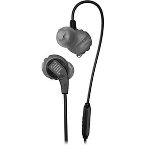 Casti JBL Endurance Run, Cu fir, In-ear, Microfon, negru